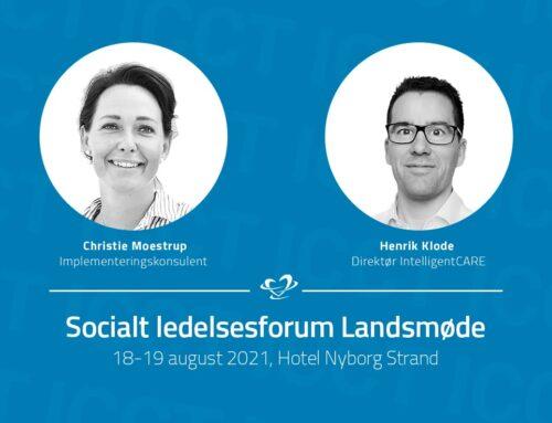 IntelligentCARE deltager på Socialt lederforum landsmøde 2021